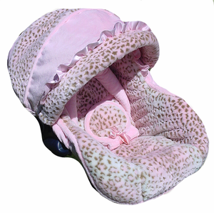 Baby Pink Lynx Infant Car Seat Cover
