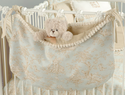Baby Toile Blue Toy Bag