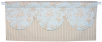 Baby Toile in Blue Window Valance
