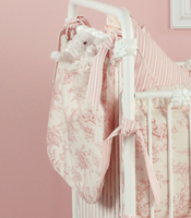 Baby Toile in Pink Toy Bag
