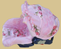 Baby Vintage Rose Infant Car Seat Cover