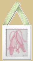 Ballet Slippers Framed Art 8x10