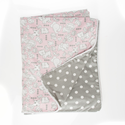 Bella and Friends Reversible Gray Dot Duvet