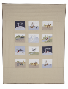 Big Art Advenure Twin Quilt