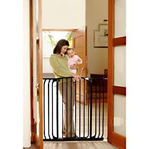 Black Extra Tall Swing Close Security Gate, L782B