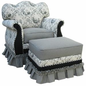 Black Toile Adult Empire Rocker Glider