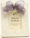 """Bless This Child"" Lavender Bow Picture Frame"