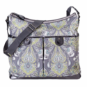 Blue and Grey 2 Pocket Hobo Diaper Bag