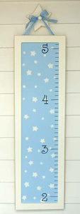 Blue and White Stars Growth Chart