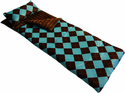 Blue Argyle Kids Sleeping Bag