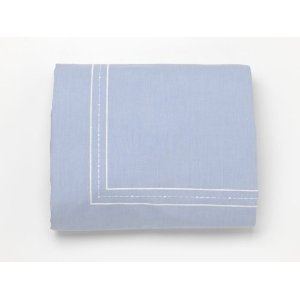 Blue Chambray Twin Duvet Cover by Whistle and Wink