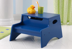 Blue Kids Step 'N Store Stool