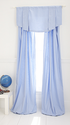 Blue Linen/Cotton Window Panel, single