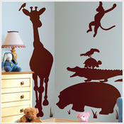 Brown Animal Silhouettes MegaPack Nursery Wall Decals