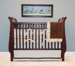 Bubbles 3 Piece Designer Crib Bedding
