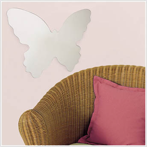 Butterfly Mirror Wall Decal