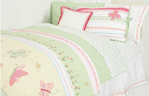 Butterfly Party Girl Twin Quilt by Whistle and Wink