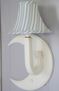Candy Stripe Blue Moon Kids Sconce by Little House Inc