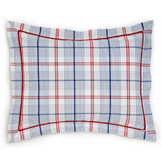 Cars and Trucks Boys Windowpane Plaid Standard Sham