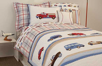 Cars and Trucks Windowpane Twin Duvet Cover