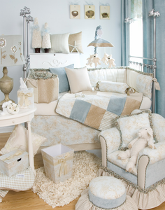 Central Park Toile Crib Bedding by Glenna Jean