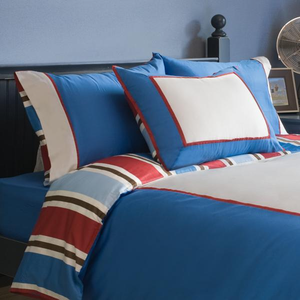 Chambray Boys 4 Piece Full Duvet Bedding Set