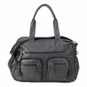 Faux Buffalo Carry All Diaper Bag in Charcoal