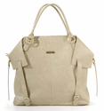 Charlie Light Brown Diaper Tote Bag by Timi and Leslie