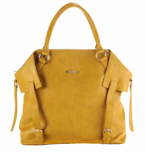 Charlie Mustard Yellow Diaper Tote Bag by Timi and Leslie