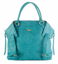 Charlie Teal Diaper Tote Bag by Timi and Leslie