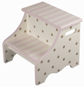 Chocolate Dot Kids Step Stool