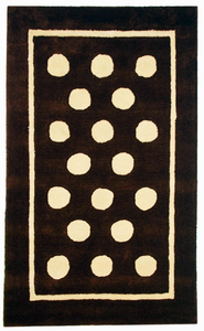 Chocolate Polka Dot Kids Rug by New Arrivals Inc