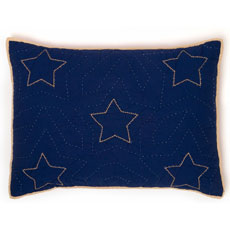 Classic Stars and Stripes Navy Standard Sham by Whistle and Wink