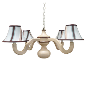 Clayton Blue Wooden Chandelier