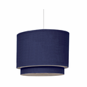 Cobalt Blue Double Pendant Lighting by Oilo