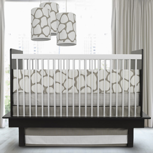 Cobblestone Taupe 3 Piece Crib Bedding Set