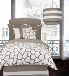 Cobblestone Taupe Twin Duvet Set by Oilo Studio