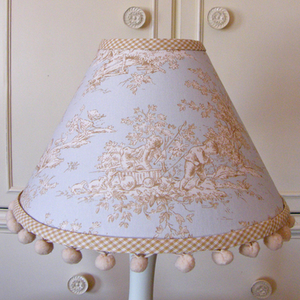 Cocoa Toile Lamp Shade