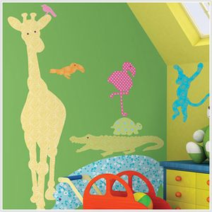 Colorful Animals Silhouettes Nursery Wall Decals