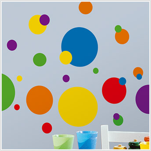 Colorful Dots Wall Decals for Kids