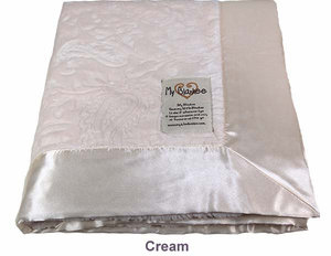 Cream Embossed Paisley Security Blanket