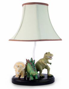 Dinosaur Hand Painted Kids Table Lamp - NOW Available