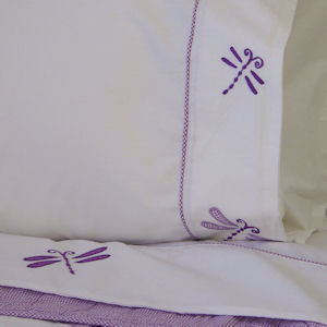 Dragonfly Butterfly Girls Twin Sheet Set
