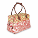Dream Traveler Carry On in Tomato Sari Flowers