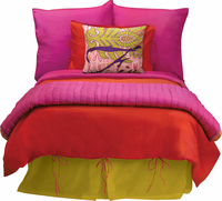 Elements Red and Fushia Duvet Cover by Koko Company