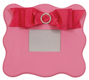 Embellished Candy Pink Scalloped Wall Picture Frame