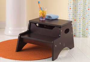 Espresso Kids Step 'N Store Stool