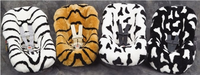 Exotic Animal Sheepskin Infant Car Seat Cover