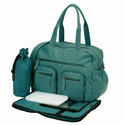 Faux Buffalo Carry All Diaper Bag in Turquoise
