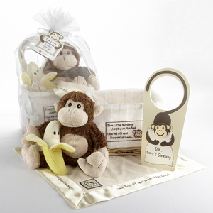 �Five Little Monkeys� Five-Piece Gift Set in Keepsake Basket